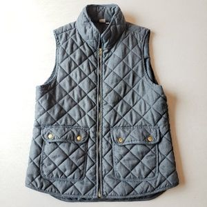 {Artisan NY} Blue Quilted Vest With Front Pockets